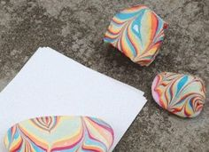 How to Make Marbled Paperweight DIY