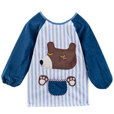 Unisex Toddler Lightweight Breathable Sleeve Bib Anti-stain Artists Painting Smock Clothes Baby Feeding Eating Aprons 24-36 months Blue -- Awesome products selected by Anna Churchill