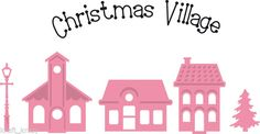 MARIANNE COLLECTABLES DIE CUT EMBOSS STENCIL CHRISTMAS VILLAGE HOUSES COL1329