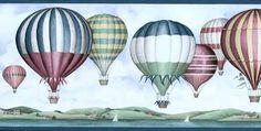 Hot Air Balloons Wallpaper Border Village 5810722 Wallcovering 2 Spools Wall New…