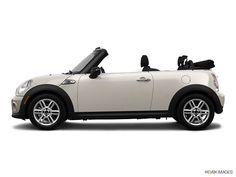 Pepper White Mini Cooper Convertible  My future car!! Maybe?