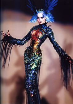 this is how I see Katniss's in the 75th tribute parade Bioform dress Mr Pearl corset + Mugler