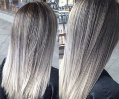 ash blonde and ash silver balayage lob - Google Search
