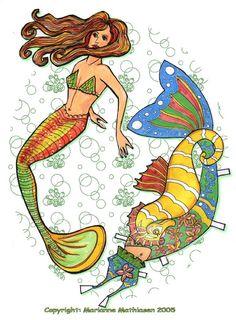 Mermaid paper doll by ~ranunkel on deviantART