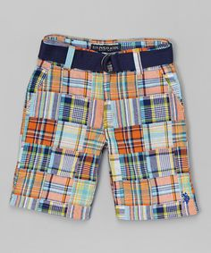 White Plaid Shorts - Toddler & Boys