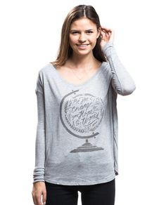 """Be The Change You Hope To See In The World"" Flowy Long Sleeve Tee by Sevenly - Each item sold donates $7 to Sevenly's featured charity of the week."