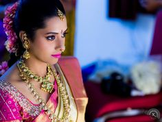 South indian bride wearing kundan jewellery #southindianwedidng #kundanjewellery #mangomala #jhumka