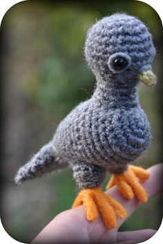 Haakpatroon jonge duif / Amigurumi pattern Young Pgeon