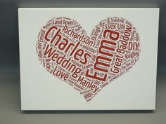 Unique wordle canvases from: crownprinters.co.uk