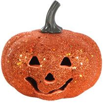 "Bulk LED Glittery Foam Pumpkins, 3x5"" at DollarTree.com"