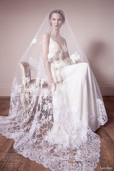 Lihi Hod collection spring 2013 2014 | wedding dress with straps veil