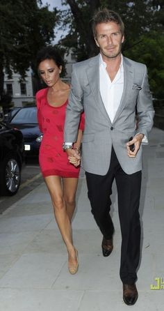 David and Victoria Beckham - Dressed Up