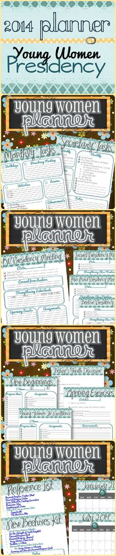 Yw Presidency Planner 2015 - Instant Download