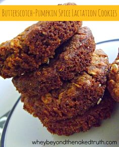 Butterscotch-Pumpkin Spice Lactation Cookies (2)  Dairy free-sub dairy free chocolate. :)