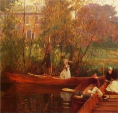"""A Boating Party,"" John Singer Sargent, ca. 1889, Oil, RISD Museum of Art, Providence, RI."
