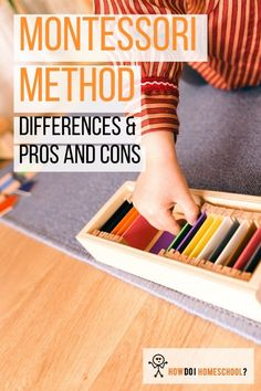 Montessori Method: Differences, Pros and Cons of a Montessori Education. The Montessori theory can be a little intimidating at first glance but, in this article, we break it down for you. Learn about if Montessori is the right homeschooling for you. Montessori Theory, What Is Montessori, Montessori Homeschool, Montessori Classroom, Montessori Baby, Maria Montessori, Homeschool Curriculum, Types Of Education, Classical Education