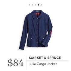 OWN IT. Market & Spruce Julia Cargo Jacket. Comfortable and versatile, and I love the pops of plaid color accents. Want your own personal stylist? Stitch Fix is the best online service I've used & I know you'll love it, too. Get handpicked style delivered—shipping's free both ways. Give it a try! #StitchFix