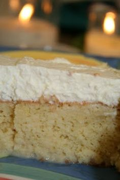 Tres Leches Cake - Real Whipped Topping!