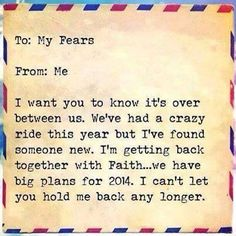 Renewed Corner: A Letter To My Fears…