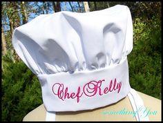 Nombre personalizado gorro de cocinero - Velcro ajustable tamaño adulto con monograma bordado nombres personalizados Chefs regalo Ideas Unisex mujer hombre