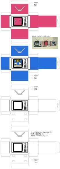 Paper tv template