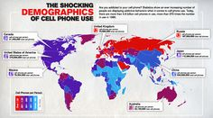 The shocking demographic of cell phone use. #infographic