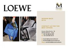 LOEWE SPRING-SUMMER 16 women bags collection is available for an order! Contact the team of Myriam Volterra Luxury Buying Office and we provide you with all the information on the offers available!
