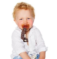 Hevea pacifier holder (GOTS)  and natural rubber pacifier