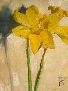 """""""Delicate Daffodils"""" - Original Fine Art for Sale - © Amy Digi"""