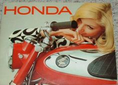 Excepts form the 1966 US Honda motorcycle brochure. Everyone has a story about a Honda motorcycle - Tell us yours Honda Cub, Honda Motors, Honda Bikes, Tank Girl, Classic Honda Motorcycles, Soichiro Honda, Motorcycle Posters, Motorcycle Art, Bike Photography