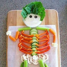 Cute way to eat veggies this fall!