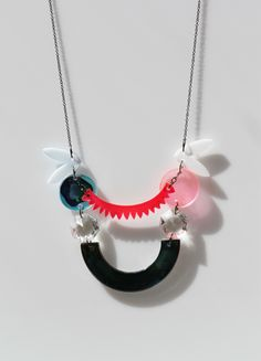 plexi+ glass necklace