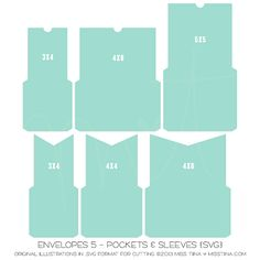 Envelopes 5 - Pockets & Sleeves {SVG}