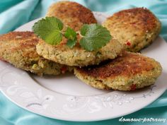 Kotlety z kaszy jaglanej i brokuła • Domowe Potrawy Salmon Burgers, Baby Food Recipes, Food And Drink, Cooking, Ethnic Recipes, Diet, Recipes For Baby Food, Kitchen, Brewing