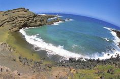 La única playa de arenas verdes del mundo, Papakolea
