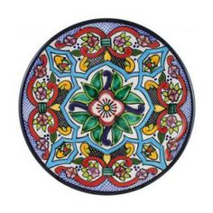 Tomas Huerta Talavera Plate - Pattern 60 ♥️♣️♣️Talavera Mexican Pottery : More At FOSTERGINGER @ Pinterest ♣️