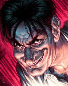 Charlie Sheen  Artist: Chris Wahl  website: http://cwtutorials.blogspot.com/2010/04/charlie-sheen-tutorial.html