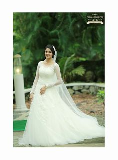 Kerala Christian Bride. Super gorgeous Wedding Gown :)