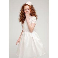 Simple Ivory Taffeta Skirt Flower Girl Dress - High Quality. Ivory...$36.99