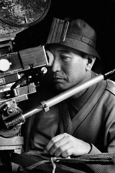 "Akira Kurosawa on the set of ""Sanjuro"" (1962)"