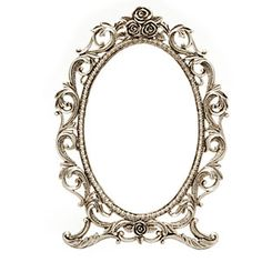 Oval Victorian Picture Frame With Ornate Details