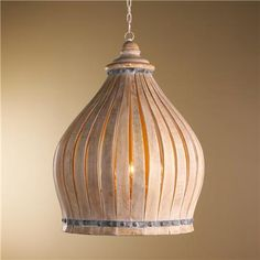 Bleached Wood Dome Chandelier, shades of light $750