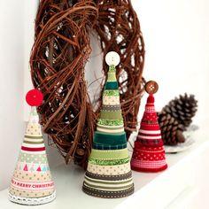 My Crafty Christmas for Red Magazine tutorials: Ribbon Christmas Tree