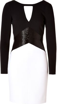 Emilio Pucci Wool Dress in Black/White on shopstyle.com