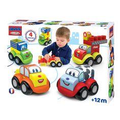 Écoiffier Maxi Abrick: voertuigen bouwblokkenBouw de leukste voertuigen met deze bouwblokken van Écoiffier. Gebruik de vier bestaande ontwerpen of maak jouw eigen creaties. De blokken zijn extra groot, hierdoor zijn ze makkelijk vast te pakken voor kinderen. - Abrick Auto's, 4st