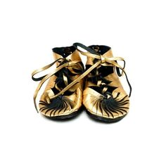 Gold recycled leather moccasins for teeny feet...to die for