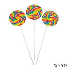Large Swirl Pops, Suckers/Pops, Candy, Party Themes & Events - Oriental Trading $6.25 per dozen