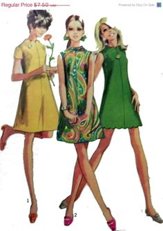 On Sale 1960s Aline dress pattern. Simplicity by retroactivefuture