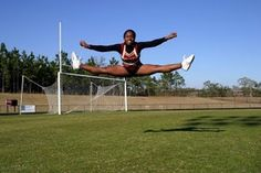 Simple Exercises to Dramatically Improve Your Cheerleading Jumps- for my cheerleaders Cheer Tryouts, Football Cheer, Cheer Coaches, Cheer Stunts, Cheer Dance, All Star Cheer, Cheer Mom, Good Cheer, Cheer Hair