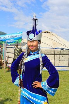 Tuvan beauty in traditional costume